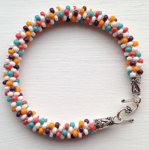 Burst of Color Kumihimo Bracelet