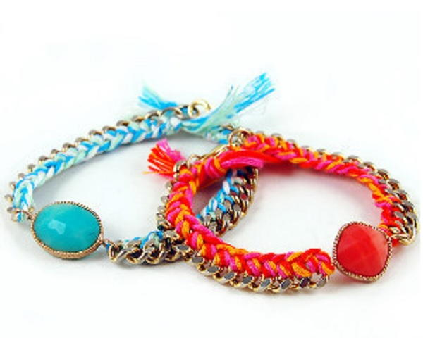 Colored Knots Chain Bracelet