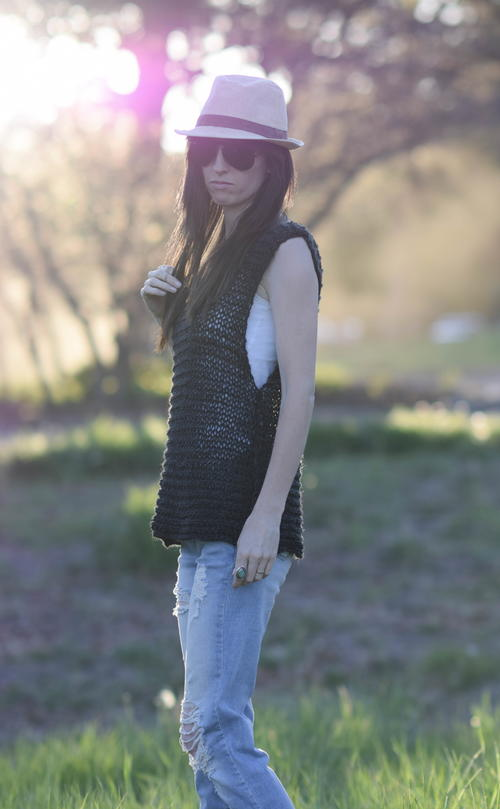 Little Black Tank Beginner Knit Pattern
