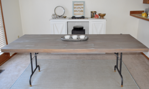 Repurposed DIY Dining Room Table | DIYIdeaCenter.com