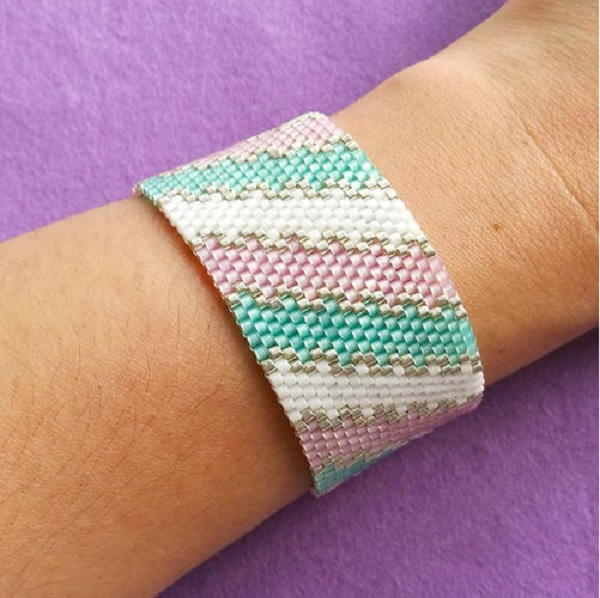 Pastel Waves Peyote Stitch Pattern Allfreejewelrymaking Com