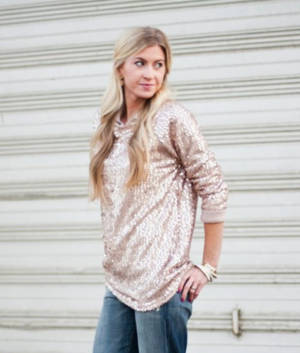 One Yard Sequined Sweatshirt
