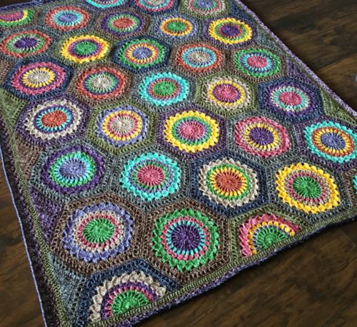 Hexagon Burst Crochet Blanket Pattern Allfreecrochetafghanpatternscom