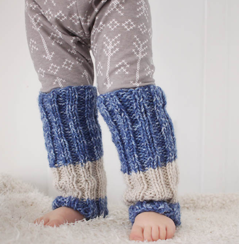 Knitting Pattern Leg Warmers Bulky Yarn : Totally Toddler Knit Leg Warmers AllFreeKnitting.com