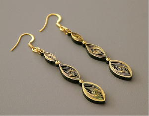 Gorgeous Gilded Earrings