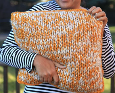 Chunky Knit DIY Pillow