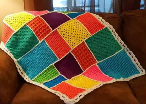 Dream Time Mosaic Crochet Quilt