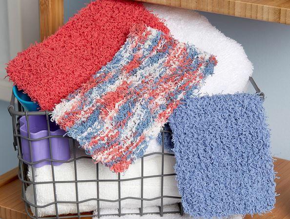 Rectangular Loom Knitting Patterns For Beginners : Simple rectangle scrubby allfreeknitting