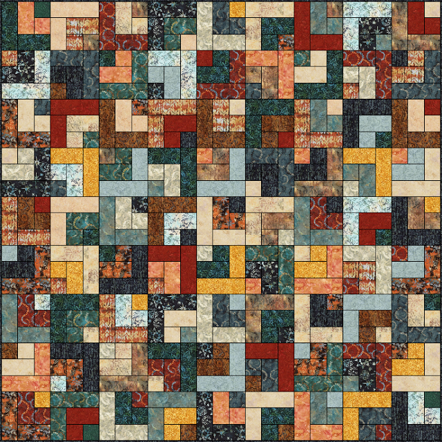 Rustic log cabin quilt favequilts