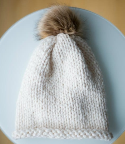 Stockinette Beginner Knitting Hat