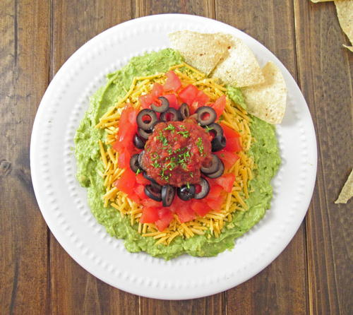 The Best Layered Guacamole Dip