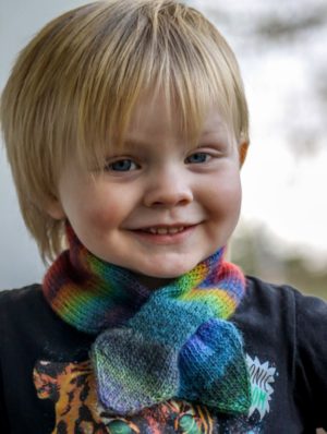 Cool Kid's Knitted Scarf