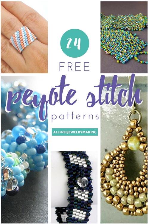 24 Free Peyote Stitch Patterns Allfreejewelrymaking Com