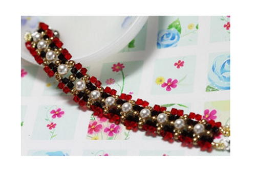 Scarlet and Black Bracelet