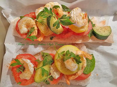 Baked Haddock with Shrimp