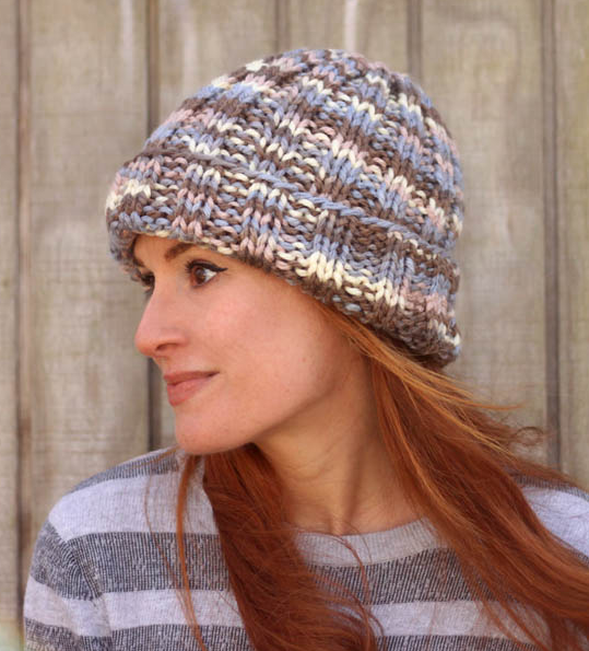 Flat Knit Beginner Knitting Hat