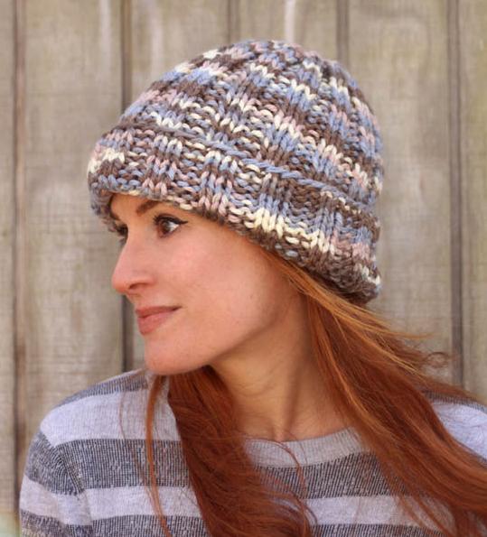 Flat Knit Beginner Knitting Hat Allfreeknitting Com