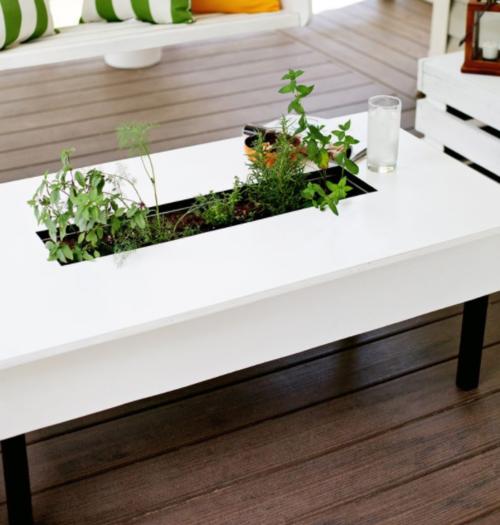 DIY Garden Coffee Table