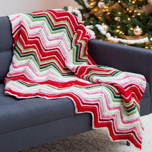 Ripples of Joy Crochet Throw
