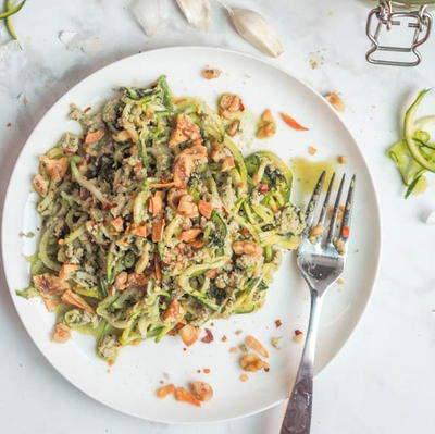 Chicken Pesto Zucchini Pasta