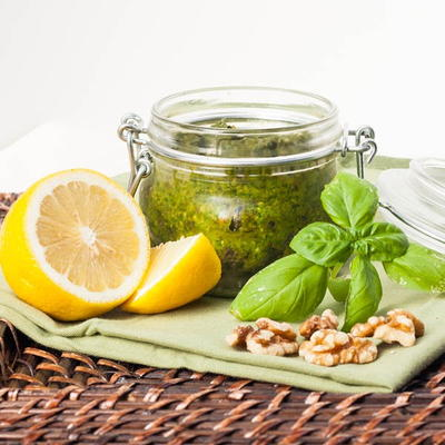 Vegan Basil and Spinach Pesto