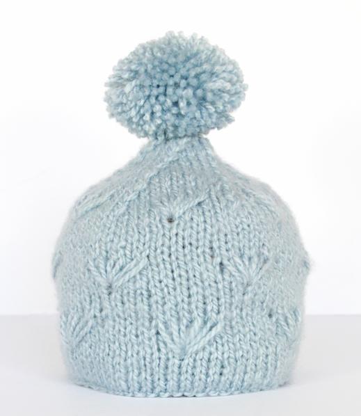 Knitted Stocking Hat Pattern : Winter Sea Knit Stocking Hat AllFreeKnitting.com