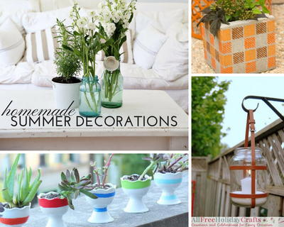 28 Homemade Decorations For Summer Diy Outdoor Decor And Diy Home Decor Allfreeholidaycrafts Com
