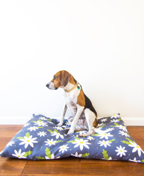 DIY Zippered Dog Bed Slipcover