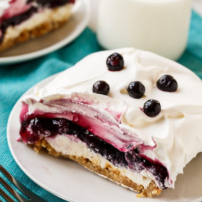 Lemon Cake And Blueberry Layer Dessert