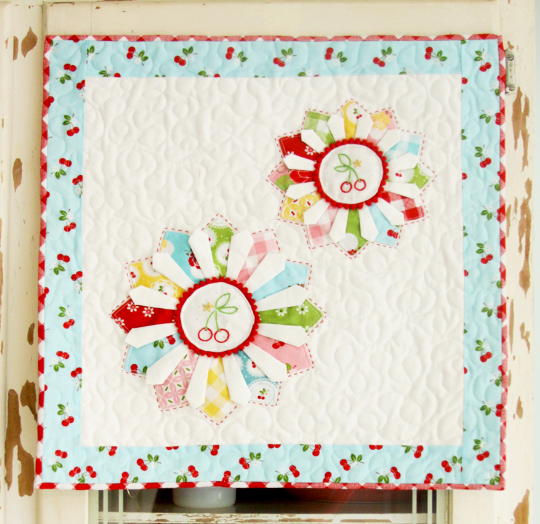 Cherry Dresden Mini Quilt