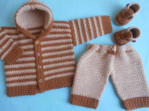 Baby Crochet Jacket and Pants