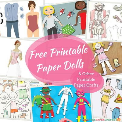 graphic about Printable Paper Crafts for Adults known as 32 Absolutely free Printable Paper Dolls and Other Printable Paper