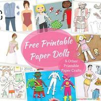 32 Free Printable Paper Dolls and Other Printable Paper Crafts