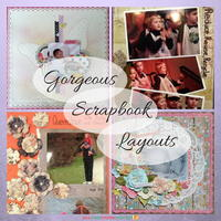 4 Gorgeous Scrapbook Layouts