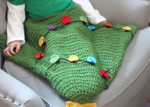 Christmas Tree Crochet Tail Blanket