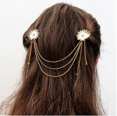 DIY Flower Hair Jewelry