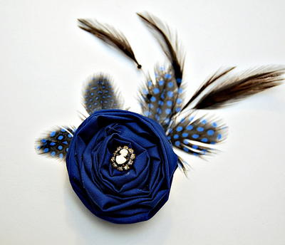 Royal Blue Flapper Hair Clip