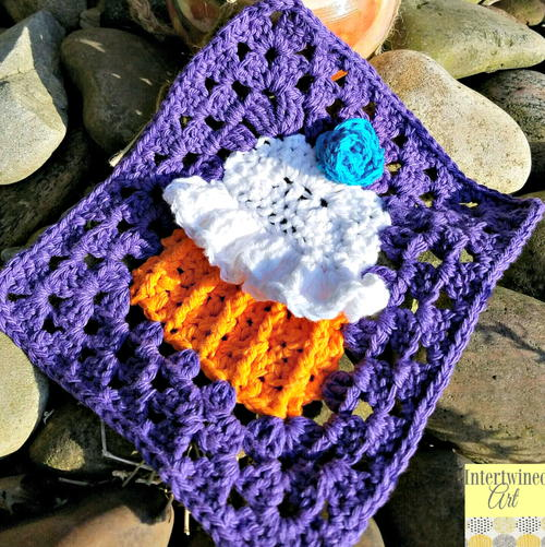 Cupcake Granny Square Dishcloth