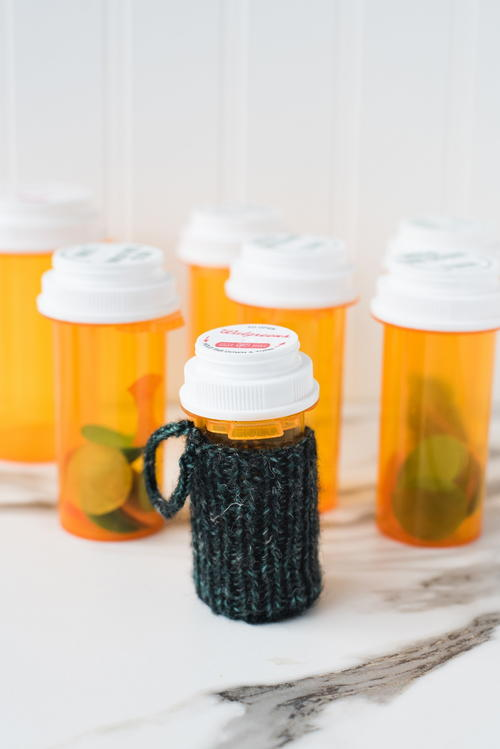 Knit Pill Bottle Cozy Pattern