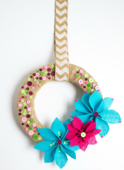 Summer Button DIY Wreath