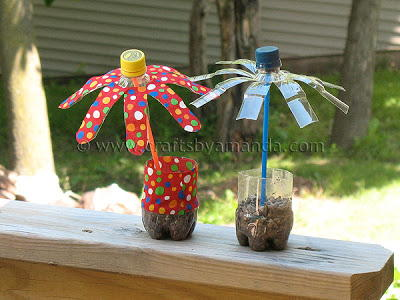 Fun Plastic Bottle Flowers