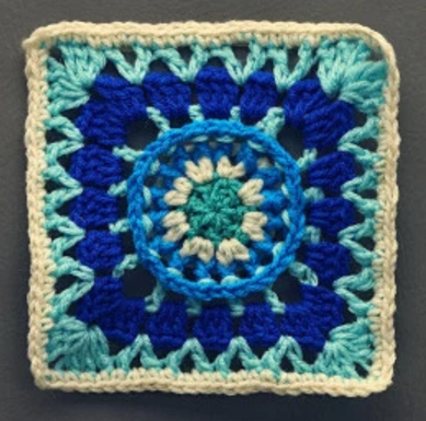 Real Wheel Granny Square Pattern