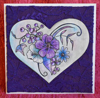 Purple Heart All Purpose Greeting Card