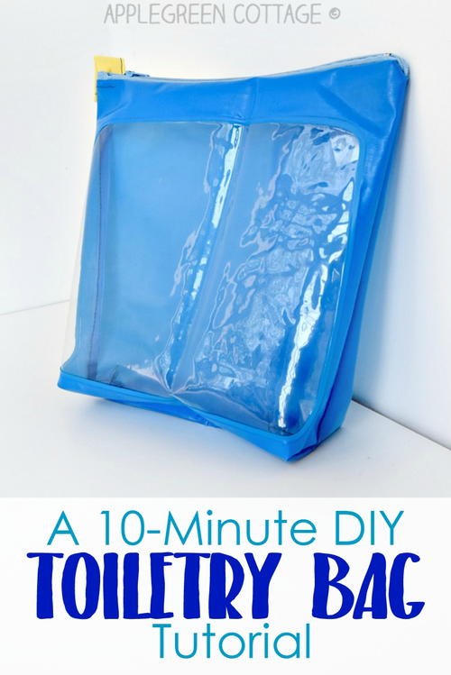 10-Minute DIY Toiletry Bag Tutorial