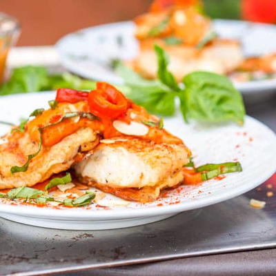 Red Snapper with Romesco Sauce