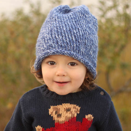 Knit Hat Patterns For Beginners : Toddler Knit Hat Beginner Pattern AllFreeKnitting.com