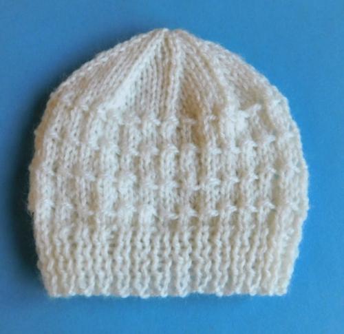 Knit Stitch Only Baby Hat : Building Blocks Knit Baby Hat Pattern AllFreeKnitting.com