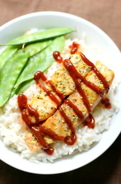 Sriracha Honey Mustard Salmon