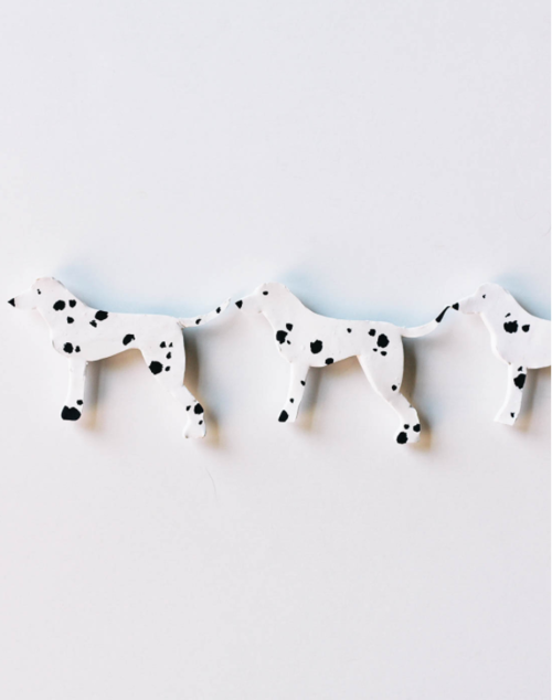 Clay Dalmatian Homemade Magnets