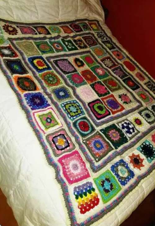 Small Pieces Big Picture Afghan Pattern